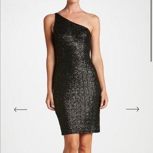 Dress the population one shoulder mini dress